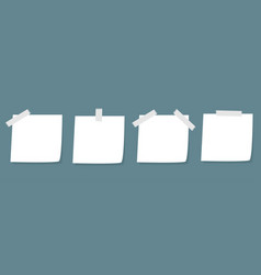 adhesive notes with scotch paper tag icon set vector image