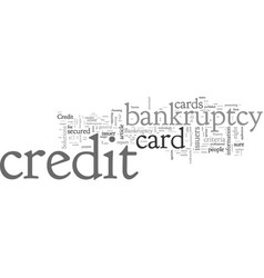 bankruptcy credit card how choose one vector image