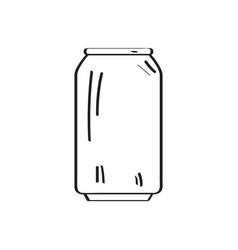 beer can outline vector image