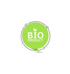 bio product green sticker vector image