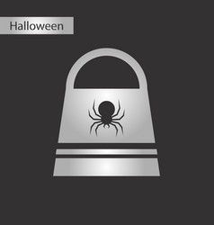 Black and white style icon halloween vector