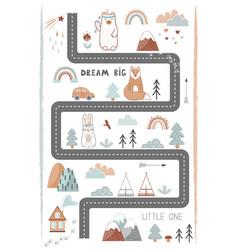 Bream big little one - cute kids poster mat vector