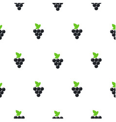 bright summer juicy grapes cartoon seamless vector image