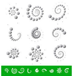 circular elements dotted motifs with different vector image