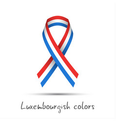 colored ribbon with the luxembourgish tricolor vector image
