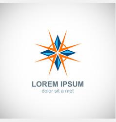 crystal shine diamond logo vector image
