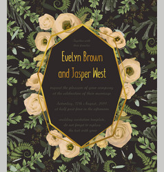 design watercolor geometric golden frame vector image