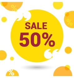 Discount circles banner vector