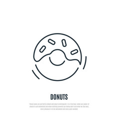 donuts line icon bakery symbol liner style vector image