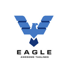 eagle with creative wings logo template vector image