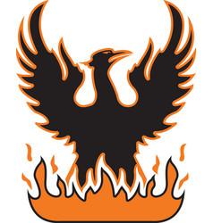 Firebird logo mascot vector