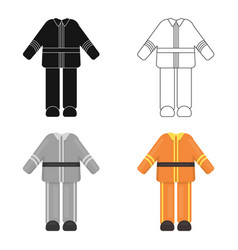 Firefighter uniform icon cartoon single vector