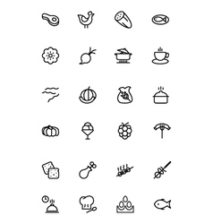 Food Outline Icons 7 vector