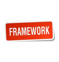Framework square sticker on white vector