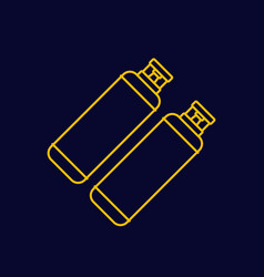 Gas cylinders tanks line icon vector