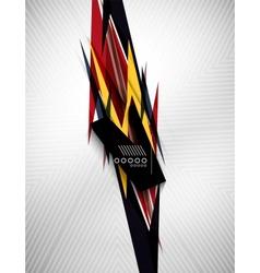Geometric shape line lightning business background vector