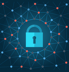 global it security protection concept vector image