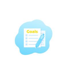 Goal setting icon vector