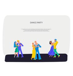 Happy different people dancing vector