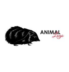 hedgehog icon logo symbol vector image