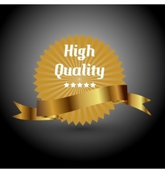 High quality label sign vector image vector image