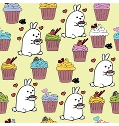 High quality original cute bunny seamless pattern vector
