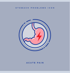 Icon stomach acute pain vector