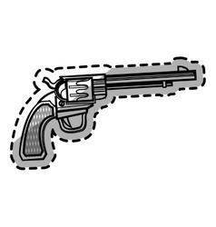 Isolated gun design vector