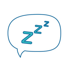 isolated sleep time speech bubble vector image