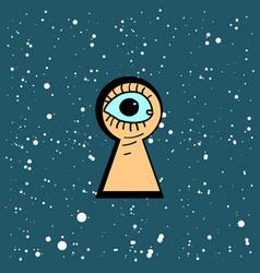 keyhole black hole vector image