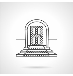 Line icon entrance door vector image