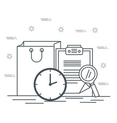 Logistic services set icons vector