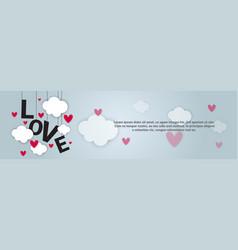 Love backgorund valentines day horizontal banner vector