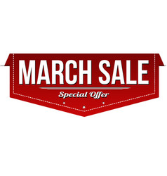 march sale banner design vector image