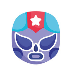 mexican wrestling mask costume culture icon vector image