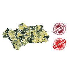 Military camouflage composition of map of vector