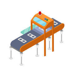Modern assembly line isometric 3d icon vector