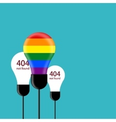 Modern concept lgbt flag with light bulb vector