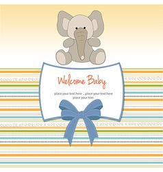 new baby arrived card vector image