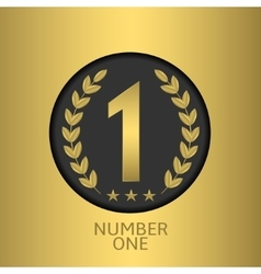 Number one symbol vector