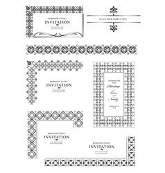 Ornate corners vector