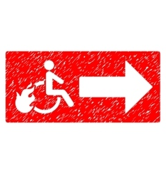 Patient Exit Grainy Texture Icon vector