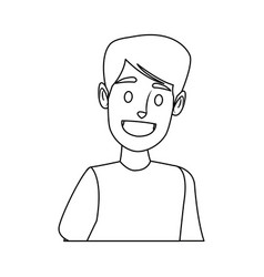 portrait young man character people vector image