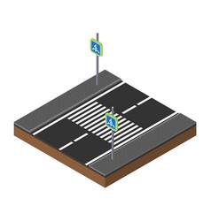 printisometric traffic lights on crossroads vector image