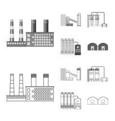 production and structure vector image