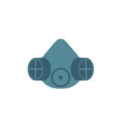 Protective gas mask with respirator icon vector