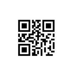 qr code sample for smartphone scanning black vector image