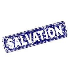 Scratched salvation framed rounded rectangle stamp vector