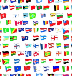 seamless pattern with country flags vector image
