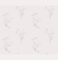 Seamless pattern with drawn flowers vector